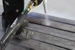 Reinigung von Holzoberflächen - Trockeneisstrahlung Wonsak 100% Hamburg