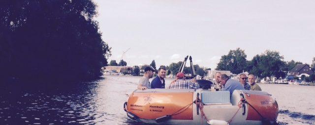 Zum 45. Firmenjubiläum stachen wir in See - Wonsak 100% Hamburg