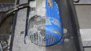 Trockeneisstrahlen Motor vorher nachher