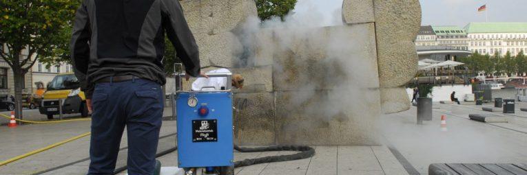 Trockeneisreinigung am Jungfernstieg Wonsak 100% Hamburg