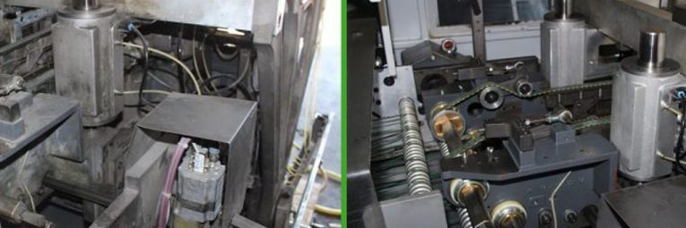 Anwendungsbeispiel Trockeneisstrahlen Druckerei vorher nachher