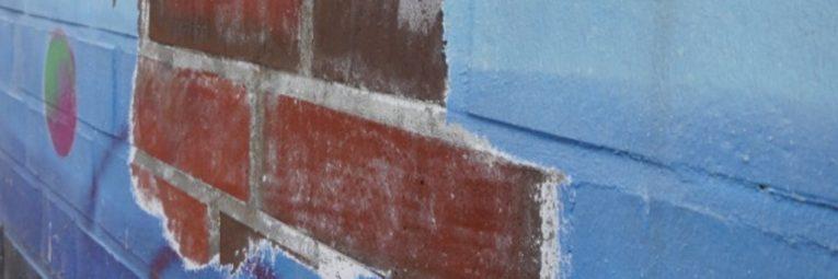 Anwendungsbeispiel Trockeneisstrahlen Fassade vorher nachher