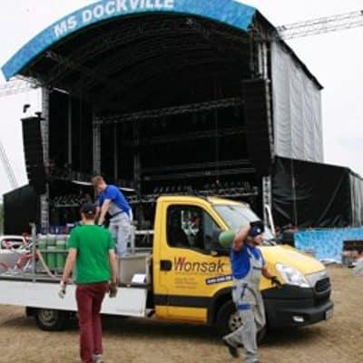 Kohlensäure Mischgas N2CO2 für Open Air Konzert
