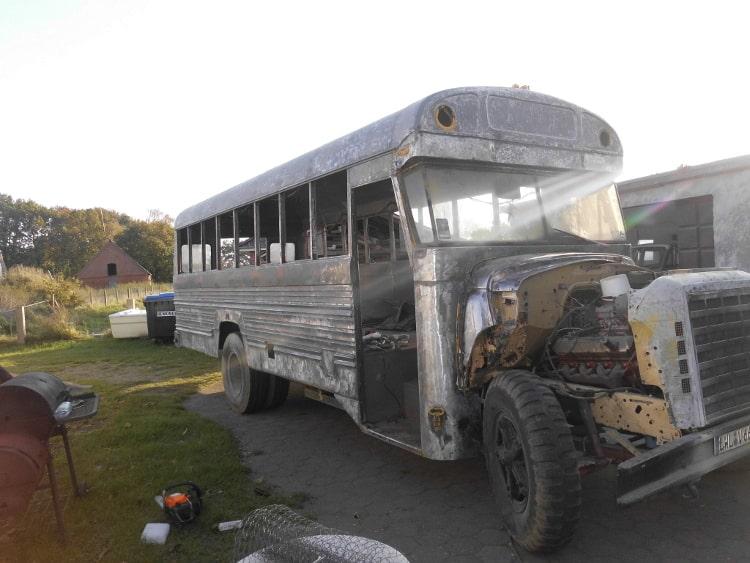 Trockeneisstrahlen beim US School Bus 2