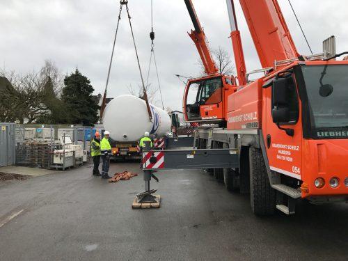 Kohlensäure Tank Anlieferung