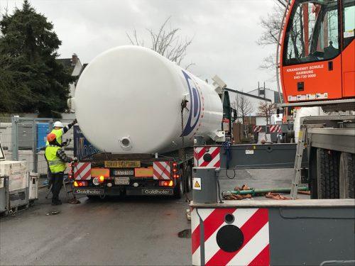 Unser neuer Kohlensäure Tank