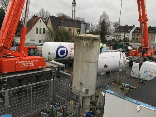 Ausbau alter Kohlensäure Tank