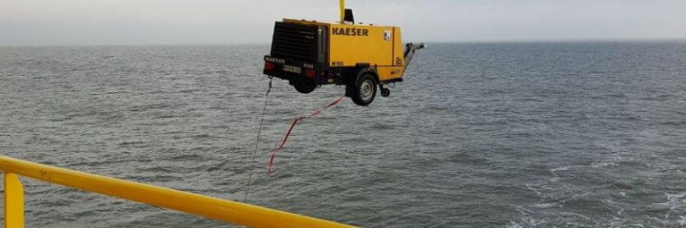 Offshore Trockeneisstrahlen Header