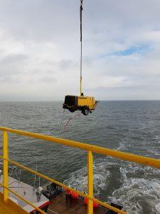 Offshore Trockeneisstrahlen Verschiffung unseres Kompressors