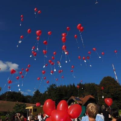 Luftballons für Hochzeit steigen lassen mit Wonsak 100% Hamburg