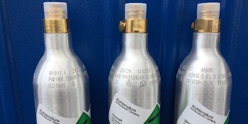 Kohlensäure CO2 Zylinder 425 g Flaschen tauschen bei Wonsak 100% Hamburg