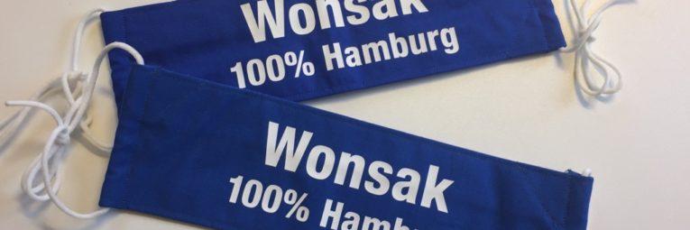 Gesichtsmasken von Wonsak 100% Hamburg