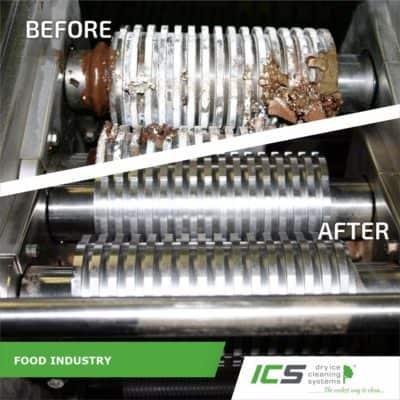 Trockeneisreinigung mit dem IC 310S in der Lebensmittelindustrie