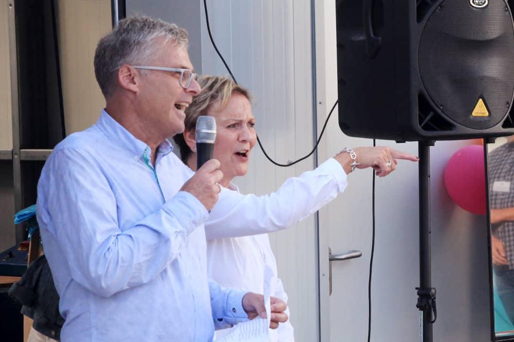 50 Jahre Wonsak Michael und Martina Wonsak bei ihrer Rede