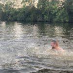 Wonsak macht blau - David im Wasser