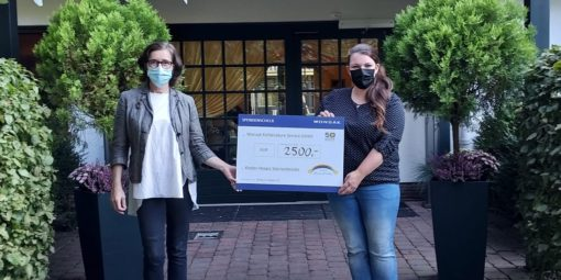 Wonsak Spendenscheck für Sternenbrücke in Höhe von 2.500 Euro überreicht